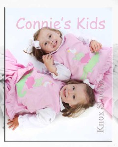 Two sweet Connie's Kids models, Mary Kate & Addie Head.