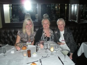 Enjoying one of the over 50 buying trips made to Atlanta, this one with my mom & daughter, Lindsay.
